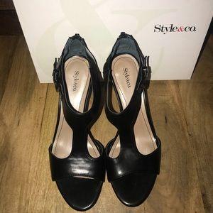 Style & Co. Black heels